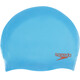 speedo Plain Moulded Silicone Cap Junior Japan Blue/Lava Red
